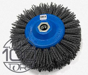 Щетка дисковая OSBORN D140x55, ворс полимер-абразив K80, М14