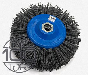 №401.913-5431 Щетка дисковая Д140*55*M14, ворс полимер-абразив P120 (код 1-053)