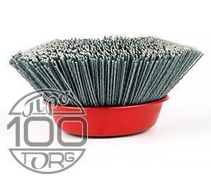 Щетка чашечная SIT D150x50, ворс полимер-абразив P80, М14